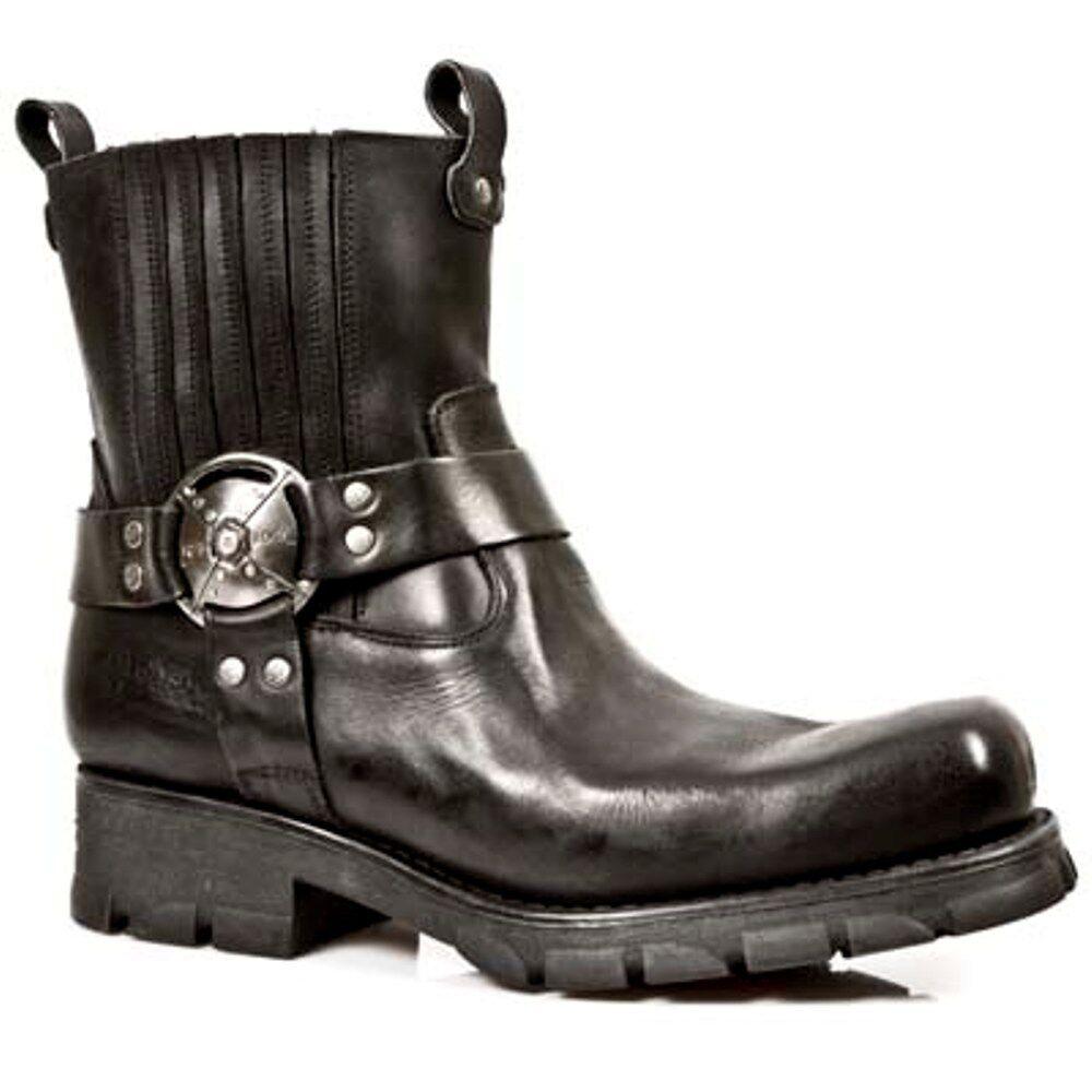New Rock botas unisex punk Gothic botas-style 7605 s1 negro