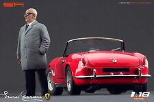 1/18 Enzo Ferrari in grey cloak VERY RARE!!! figures for1:18 CMC Exoto Autoart