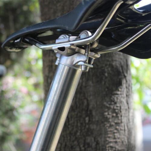 27.2// 30.8//31.6 x 350//400mm Titanium Seat Tube Bicycle Bike Straight Seatpost