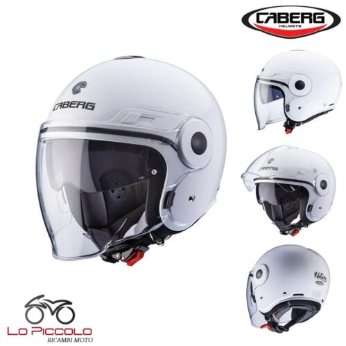 CASCO CABERG JET SCOOTER MOTO UPTOWN BIANCO LUCIDO WHITE GLOSS TG XS