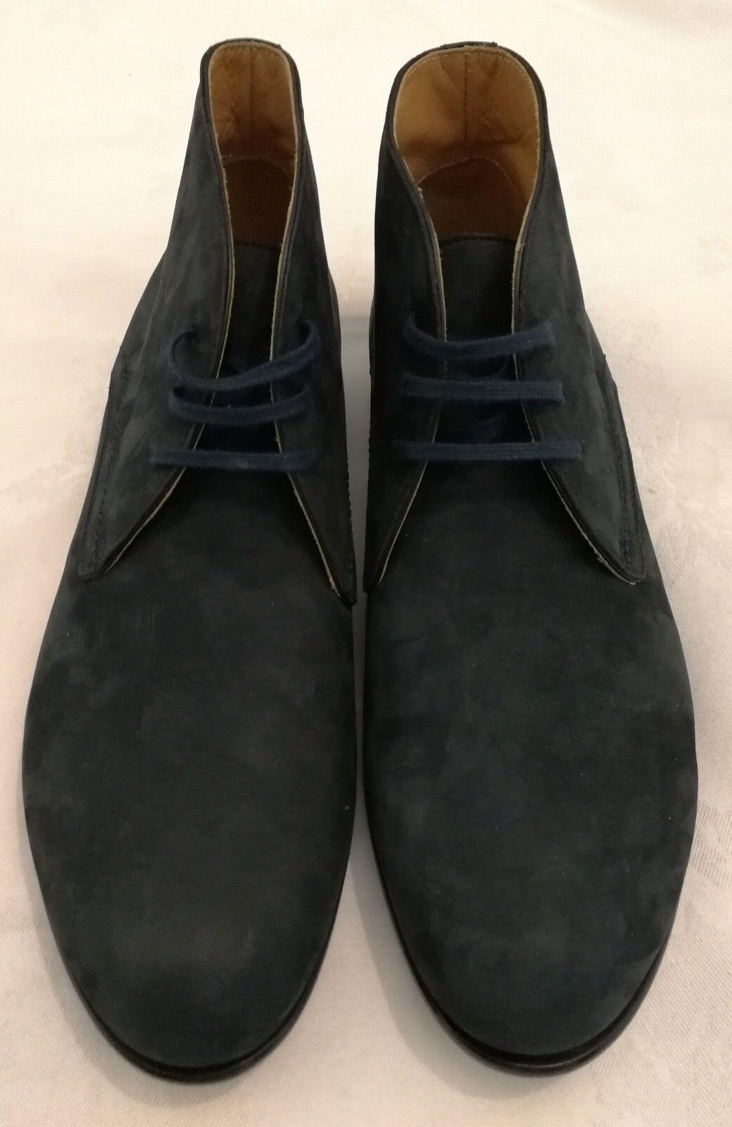 Cuero Nobuck Harrys Of London Griffin Postre Gamuza botas acordonadas F