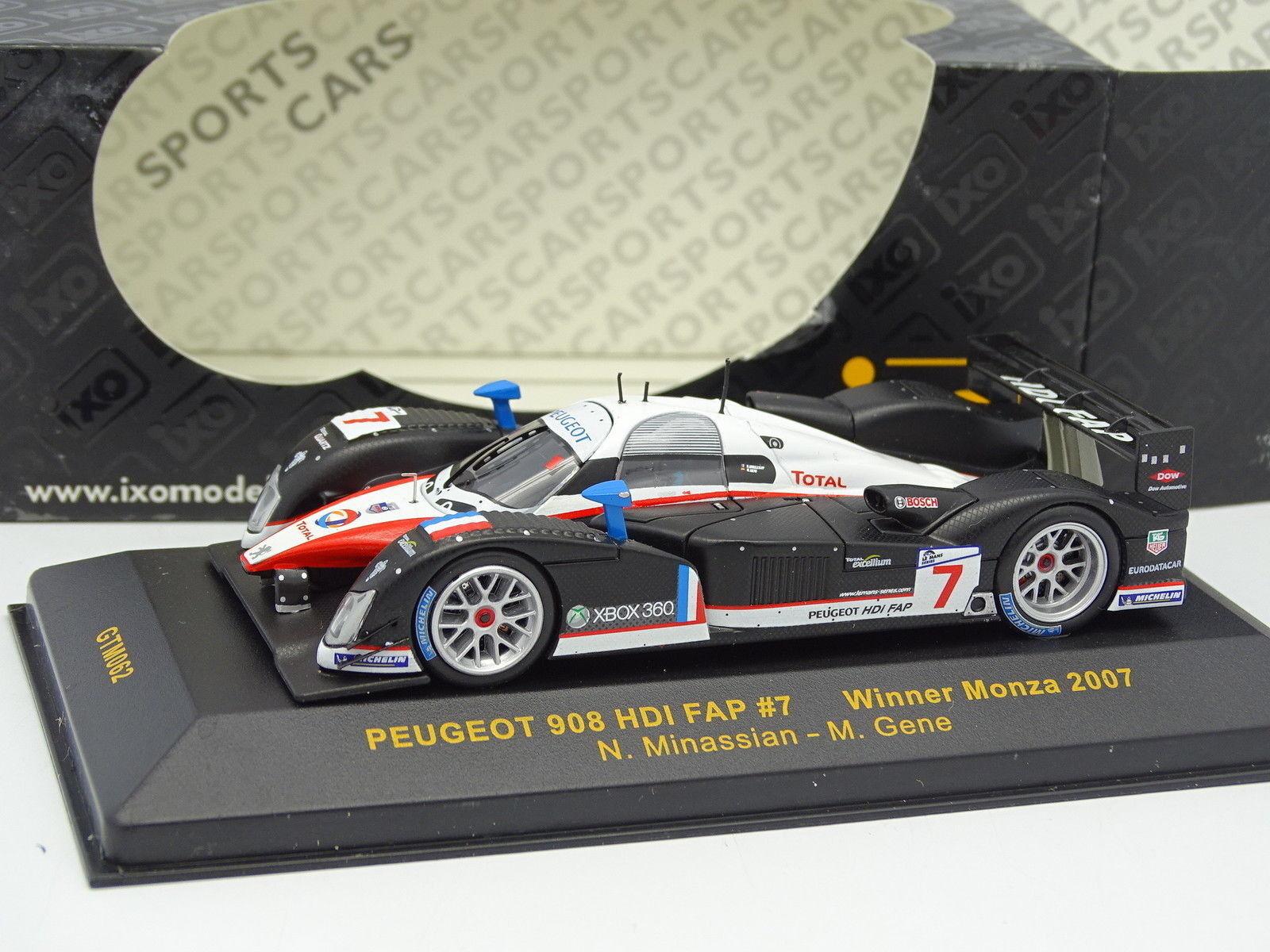 Ixo 1 43 - Peugeot 908 HDI FAP No.7 Winner Monza 2007