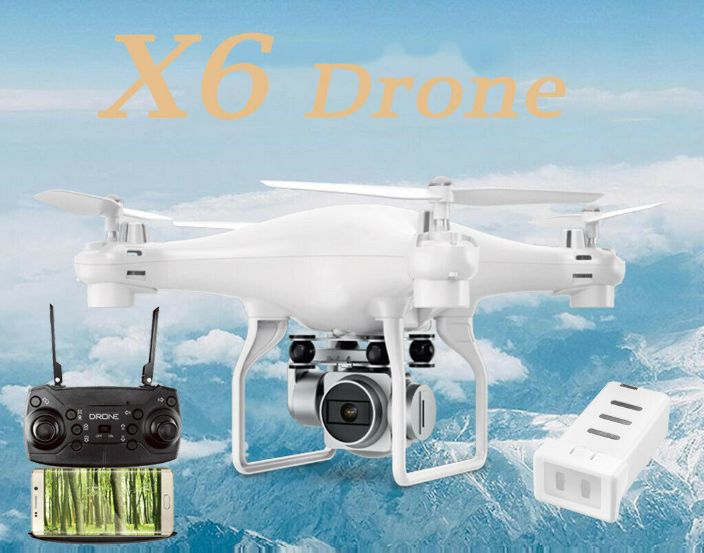 X6 2.4GHZ Wifi FPV  Wide Angle 5.0MP 1080P teletelecamera gree Capacittà RC Quadcopter  outlet online economico