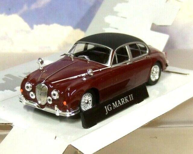 Great Atlas Diecast 1 43 1960 Jaguar Mk2 Mkii In Maroon Red Uk Right Hand Drive For Sale Online Ebay