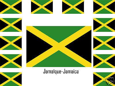 Ragionevole Assortiment Lot De 25 Autocollants Vinyle Stickers Drapeau Jamaïque-jamaica Delizie Amate Da Tutti