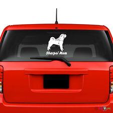Sharpei Mom Windshield Sticker Vinyl Auto Window v2 shar pei shar-pei