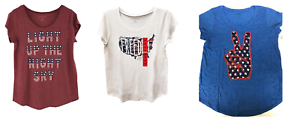 NEW-Lucky-Brand-Women-039-s-Americana-Short-Sleeve-Graphic-Tee