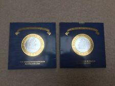 RARE 2 x 1994 TWO POUND £2 ROYAL MINT TRIAL 1st BI-METALLIC COIN INC ERROR