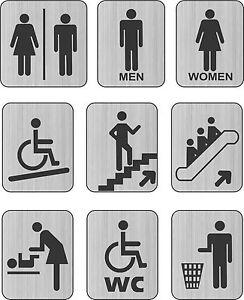 Letrero para puerta de ba o lavabo discapacitados for Puerta bano discapacitados