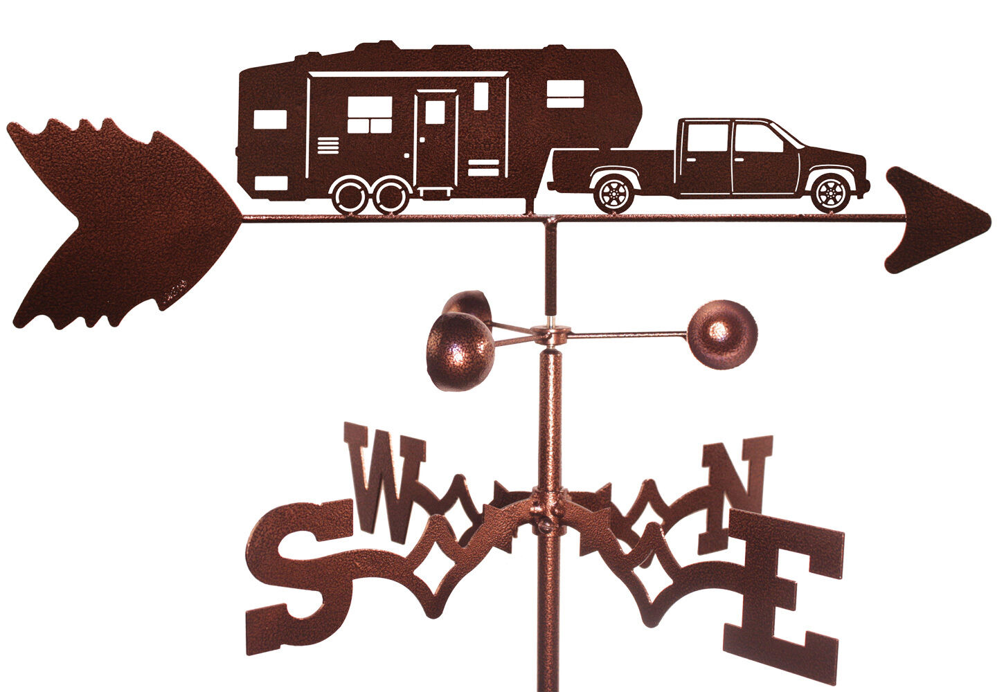 5th Wheel Camper Weathervane With Garden Mounting