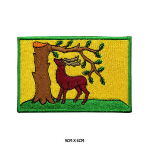 BERKSHIRE-County-Flag-Embroidered-Patch-Iron-on-Sew-On-Badge-For-Clothes-Etc