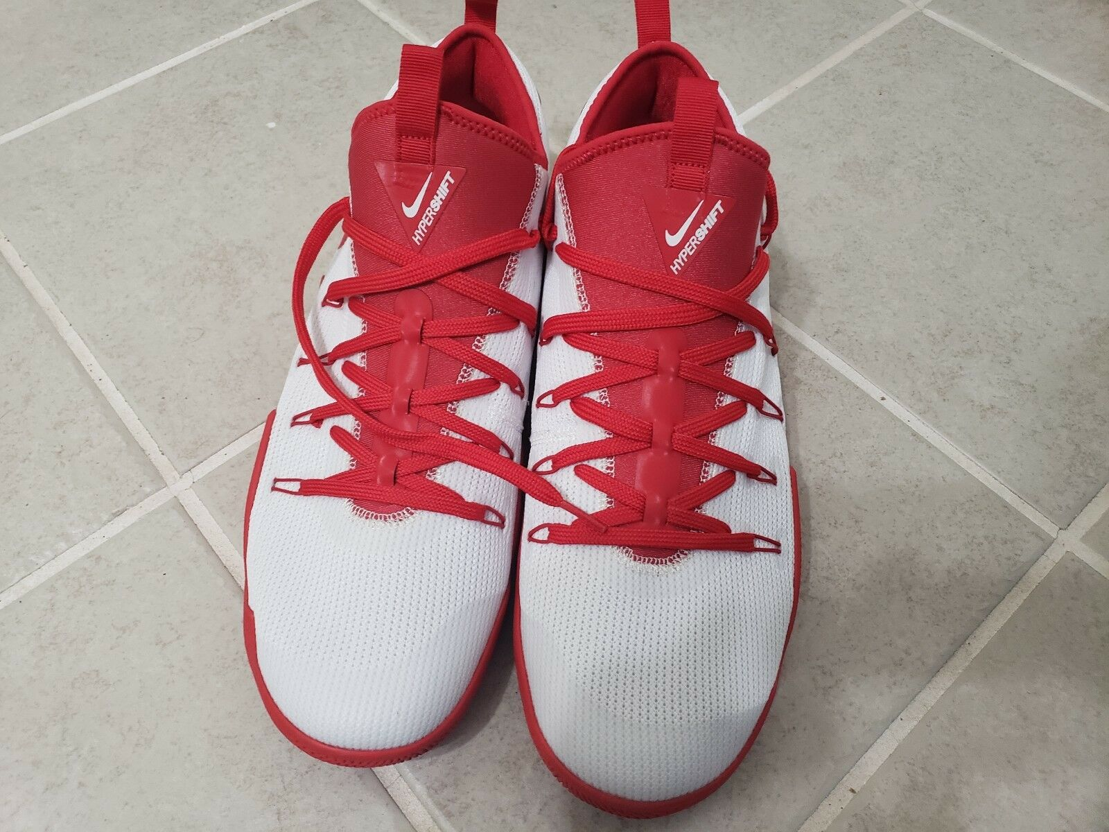 NEW Nike Hypershift Red/White Men's Size 15.5 Same Day Shipping