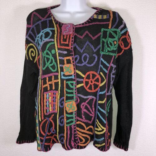 MY Art to Wear Women's Vtg Cotton Blend Sweater Sz