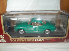 Road Legends 92198 1966 VW Karman Ghia Green 1/18 Mint & Boxed