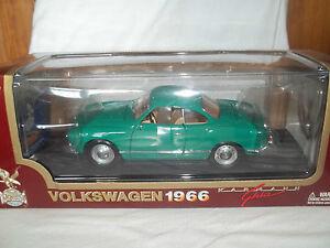 Road Legends 92198 1966 Vw Karman Ghia Vert 1/18 Monnaie & Boxé 47816921983
