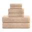 De-Lujo-cero-Twist-600GSM-6-Pc-Conjunto-de-toallas-de-bano-Juego-de-toallas-de-mano-Toalla-de-Bano miniatura 7