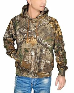 WICKED-STOCK-Men-039-s-Realtree-Xtra-Hunting-Hooded-Sweatshirt-Camo-Outdoor-Hoodie