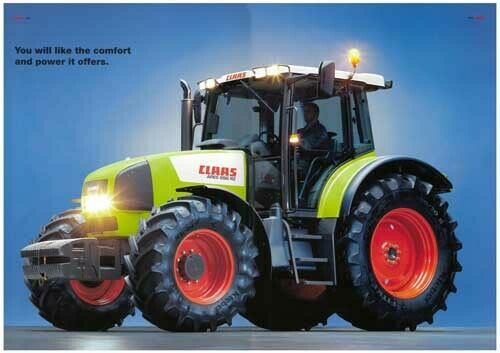 A3 Claas Renault Ares 696 RZ Tractor Brochure Poster Leaflet Art Picture