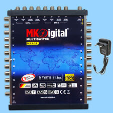 Multischalter 9-24 für 2 Satelliten 24 Receiver Umschalter Switch HDTV UHD 4K