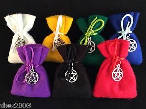 Herb-Charm-Spell-Bag-with-Spell-and-Pentagram-Charm-Mojo-23-to-Choose-From