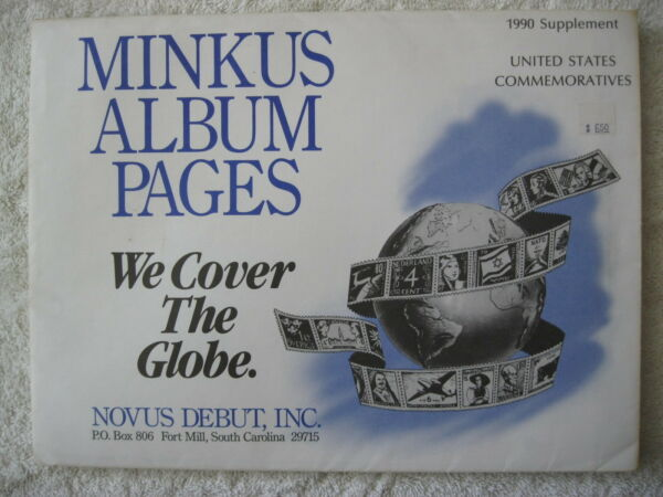 1990 Minkus Album Timbres Supplément États-unis Timbres Spéciaux Sans Retour
