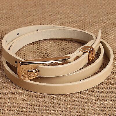 Hot Lady Women Lady Girl Skinny Waist Belt Thin Leather Narrow Waistband Strap