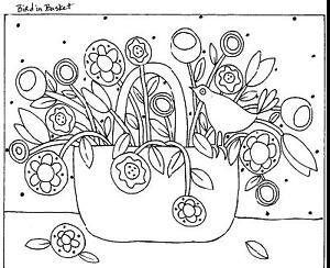 RUG HOOKING CRAFT PAPER PATTERN Bird In Basket ABSTRACT FOLK ART Karla Gerard
