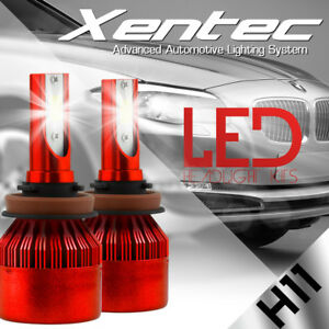 XENTEC-LED-HID-Headlight-kit-H11-White-for-2014-2016-Ford-Transit-Connect