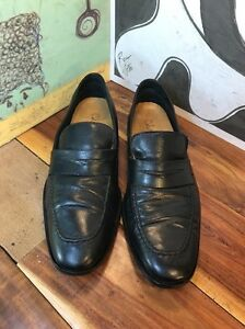 Cole Haan Black Leather Loafers 9.5M Formal Loafers CO8089