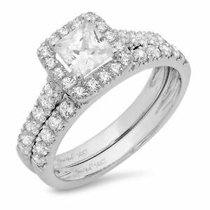 Jewelry & Watches 3.00 Ct Princess Cut Diamond Bridal Wedding Engagement Ring Solid 14k White Gold To Be Distributed All Over The World Fine Jewelry