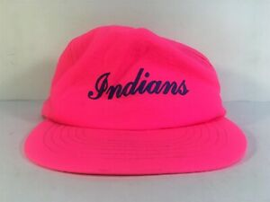 Details about VTG Indianapolis Indians Minor League Baseball SGA Neon Pink  Snapback Hat Cap abe45b021a5