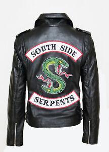 Veste Juvenead Jones motard Southside de Sprouse Cole Serpents Riverdale 0kZnNwXP8O