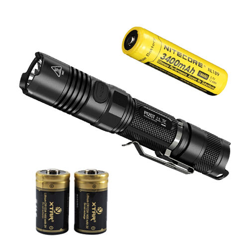 Nitecore P12GT Flashlumière w  NL189 Battery & 2 Premium CR123A Batteries