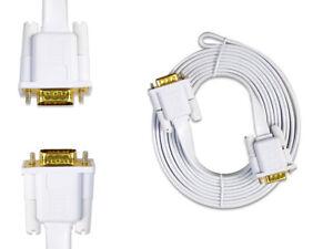 Cavo prolunga vga maschio 15 pin 24k 3 metri per monitor pc tv video piatto