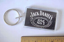 Jack Daniels Old #7 Whisky Liquor Plastic Lucite Advertising Made USA Keychain