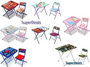 Disney Kids Activity Desk and Chair Set -Children\'s Character Table ...