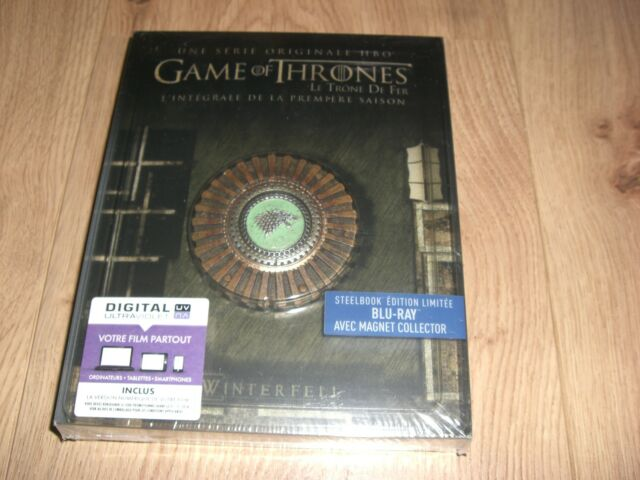 Game of Thrones Season 1 Blu-Ray Steelbook inkl. Magnet Siegel mit dt. Ton. NEU