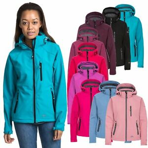 Trespass-Bela-II-Womens-Soft-Shell-Jacket-Waterproof-in-Black-Blue-Purple-amp-Pink