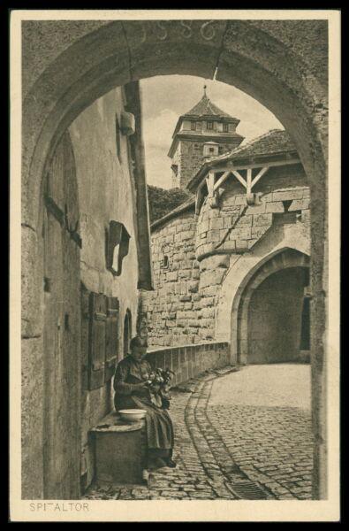 Deutschland Ak Rothenburg Ob Der Tauber Alte Ansichtskarte Foto-ak Postcard Cx49