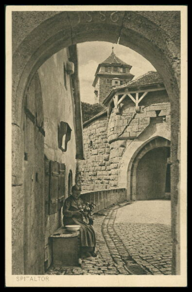 Architektur Ak Rothenburg Ob Der Tauber Alte Ansichtskarte Foto-ak Postcard Cx31