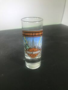 Harley-Davidson-of-New-York-City-Double-Shot-Glass-Twin-Towers