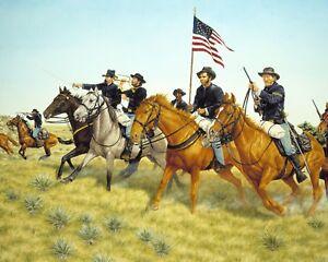 Buffalo-Soldiers-amp-Kansas-Calvary-V-Plains-Indians-US-History-Art-Canvas-Print