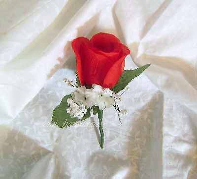 Rose Boutonniere*Corsage*your choice*Groom*Best man*Prom*Party*Quinceanera