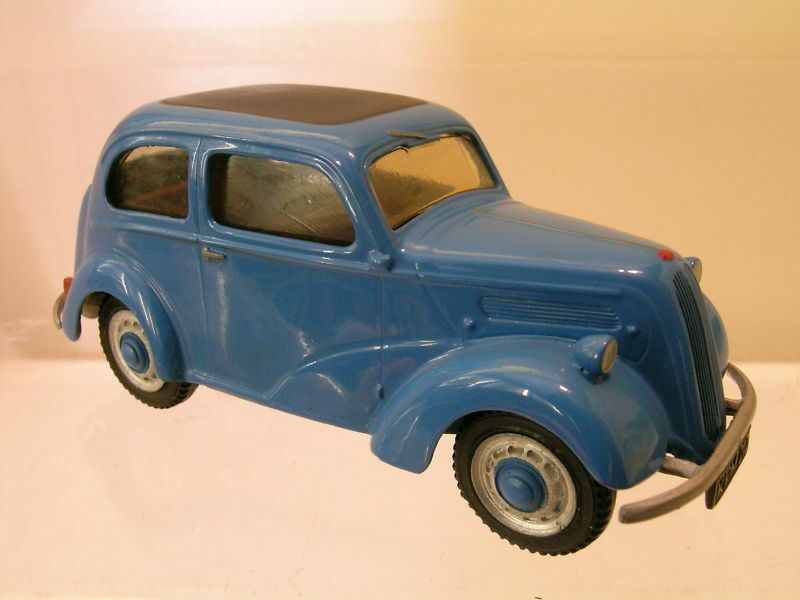 SOMERVILLE MODELS 103 FORD E93A POPULAR COLOUR blu HANDBUILT + BOX SCALE 1:43