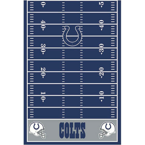 NFL INDIANAPOLIS COLTS PLASTIC TABLE COVER ~ Birthday Party Supplies Cloth