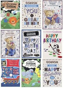 Image Is Loading CUTE OR TRADTIONAL GODSON BIRTHDAY CARD VARIOUS DESIGNS