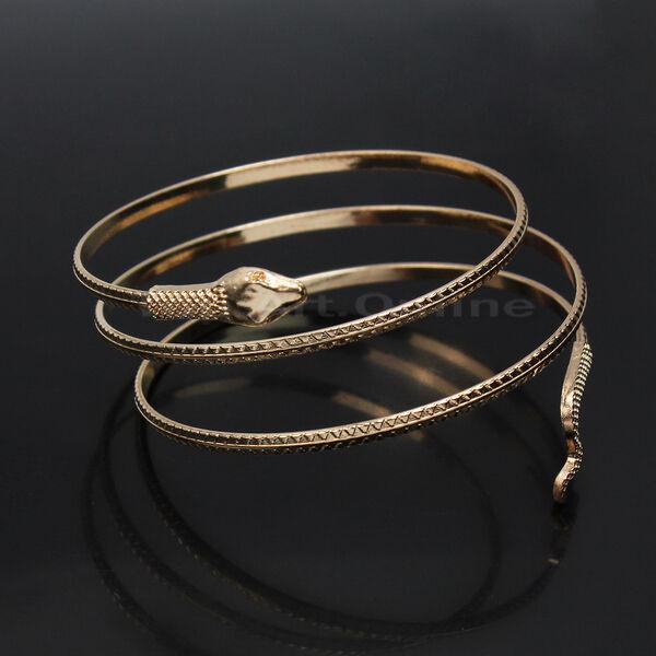 Latest Coiled Snake Spiral Upper Arm Cuff Armlet Armband Wrist Bangle Bracelet
