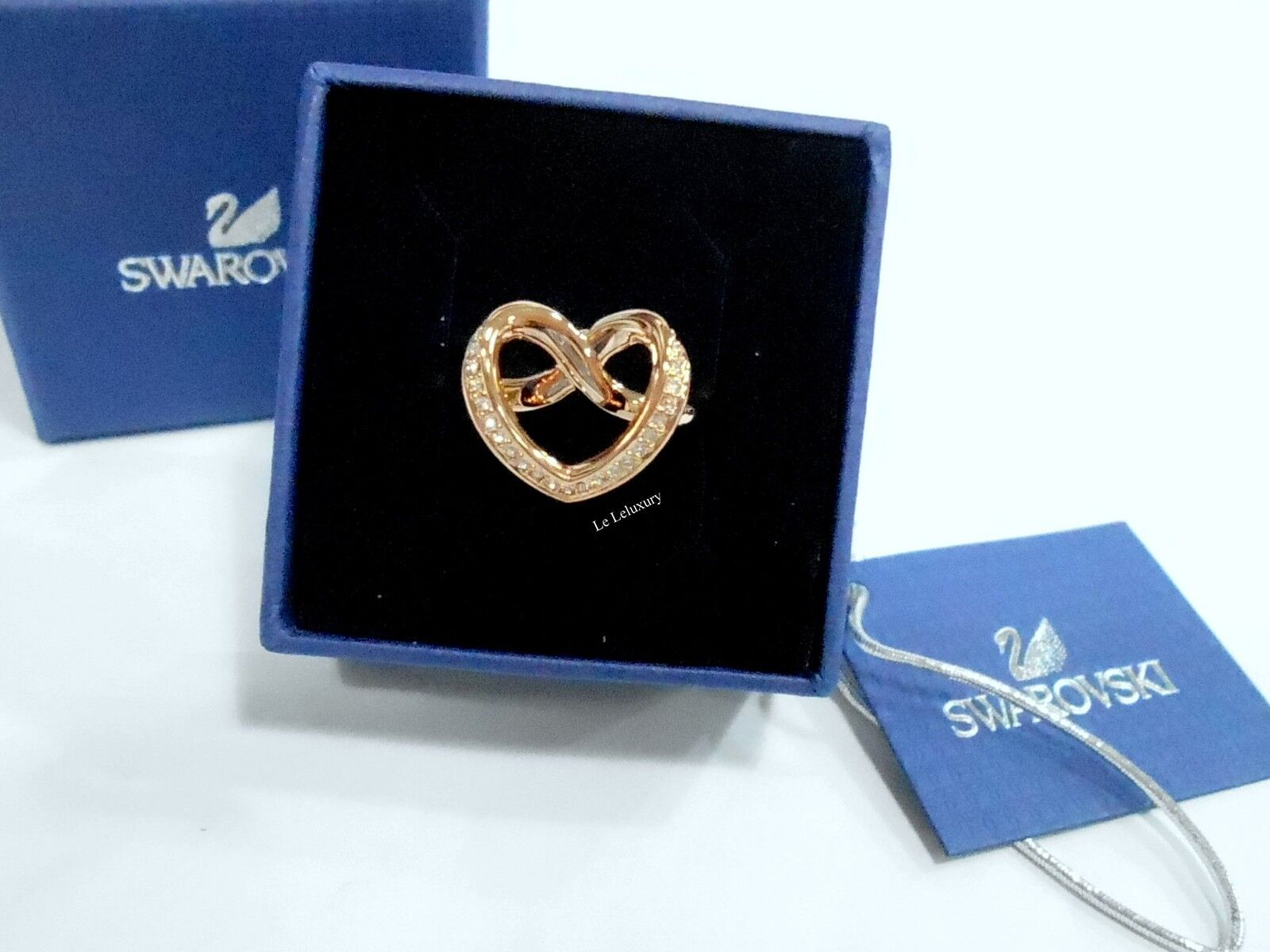 Swarovski Cupidon Ring Heart Size  S 6 52,  pink gold-Plated Crystal 5139687