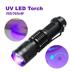UV-Ultra-Violet-LED-Flashlight-Blacklight-395-365-nM-Inspection-Lamp-Torch-USA