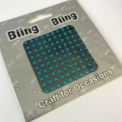 100 Bling Bling cáscara y palillo Perlas//Gemas 4mm BOGOF